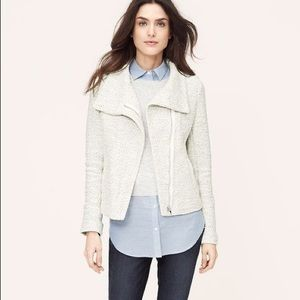 {LOFT} NWT Petite Speckled Zip Sweatshirt Jacket